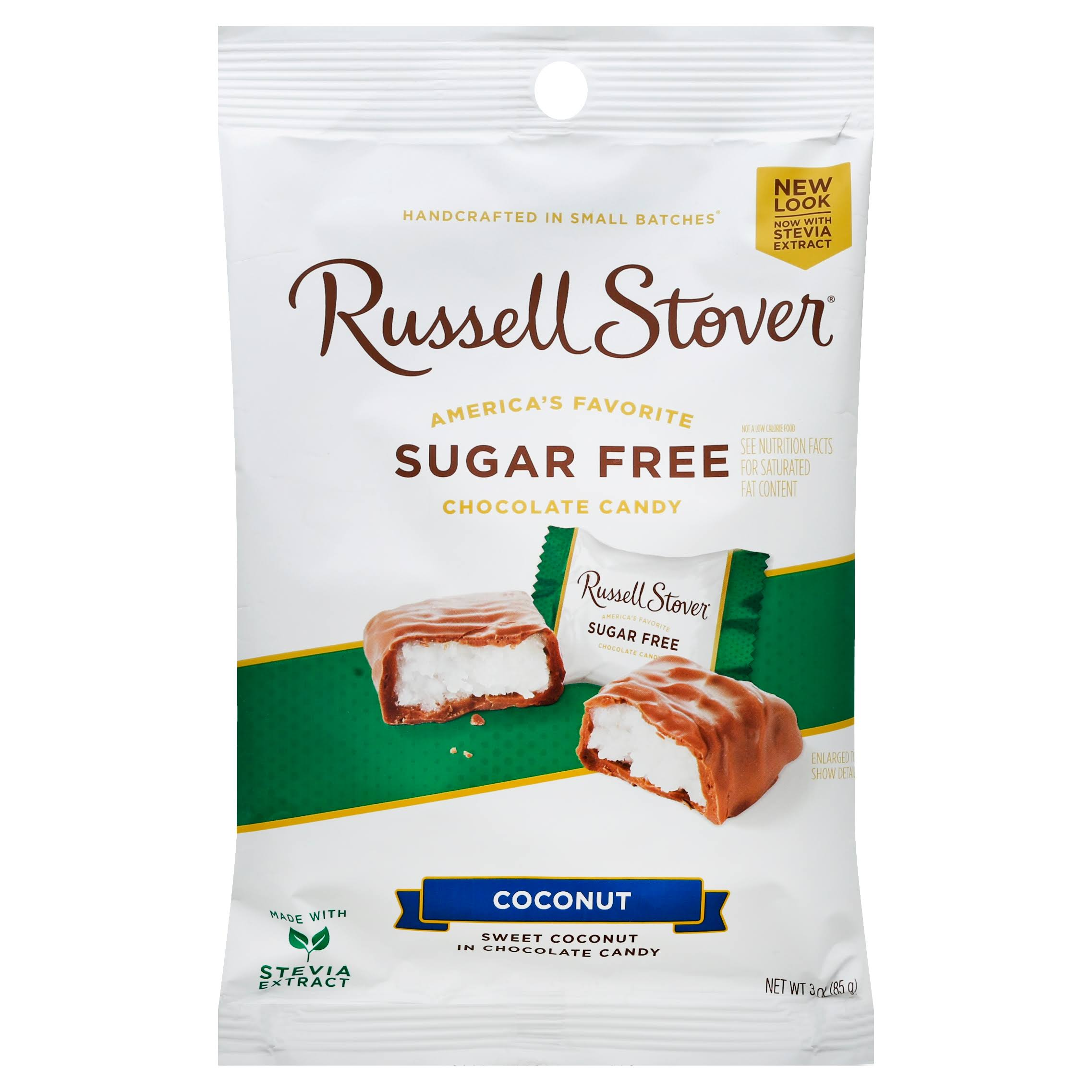Russell Stover Sugar Free Coconut Covered in Chocolate Candy - 3oz