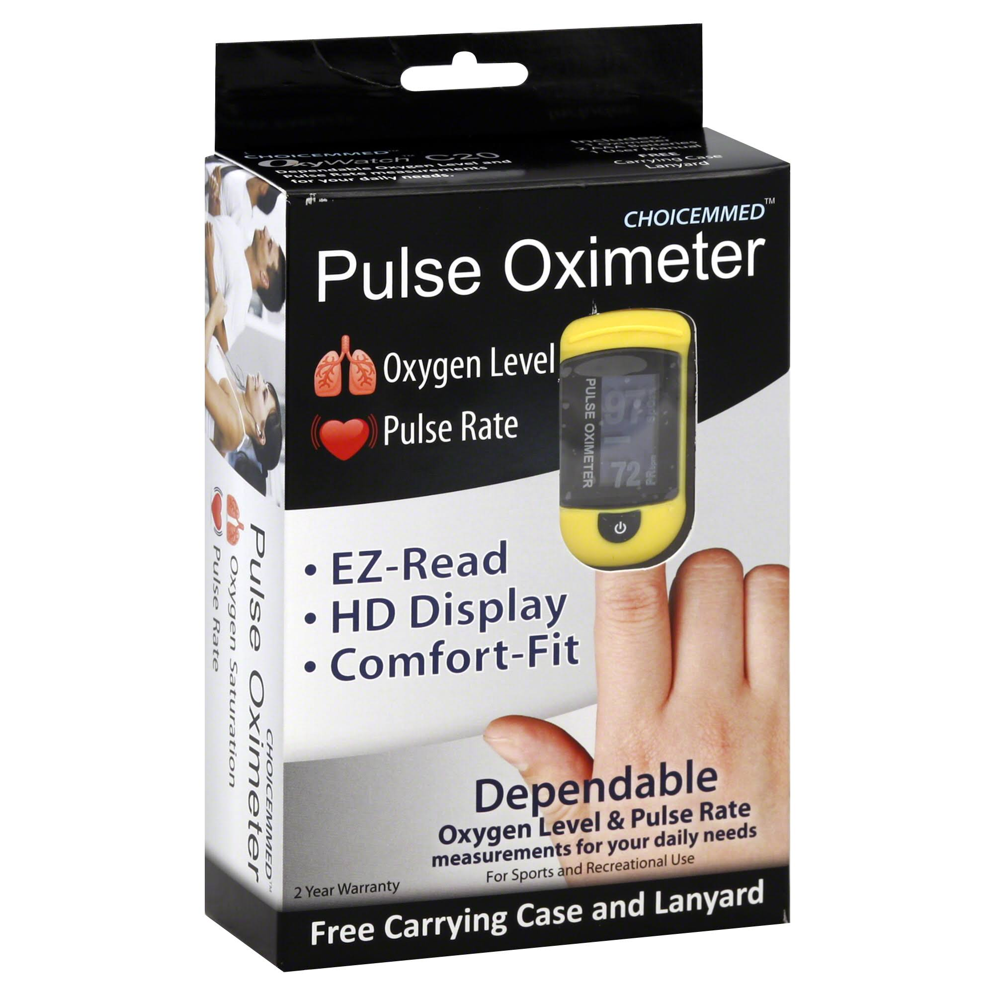Choicemmed OxyWatch C20 Fingertip Pulse Heart Rate Oximeter
