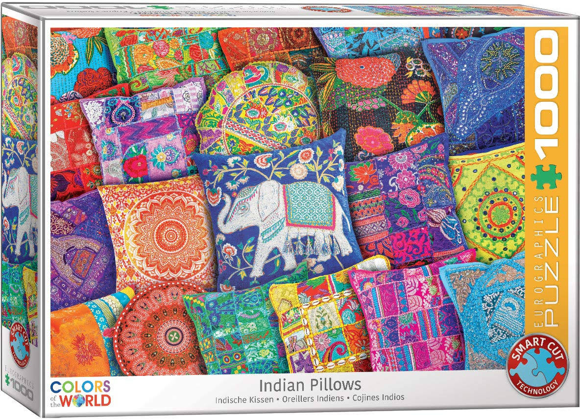 Eurographics 6000-5470 Indian Pillows 1000Piece Puzzle
