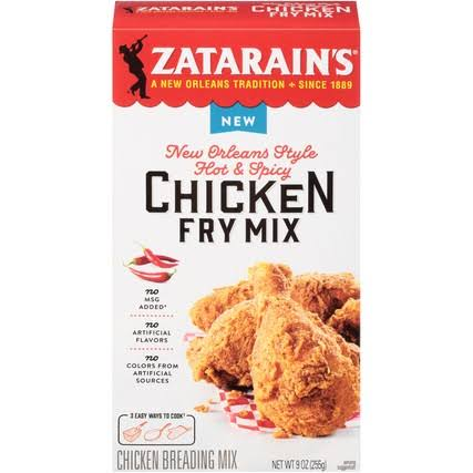 Zatarain's New Orleans Style Hot & Spicy Chicken Fry Mix 9 Oz. Box