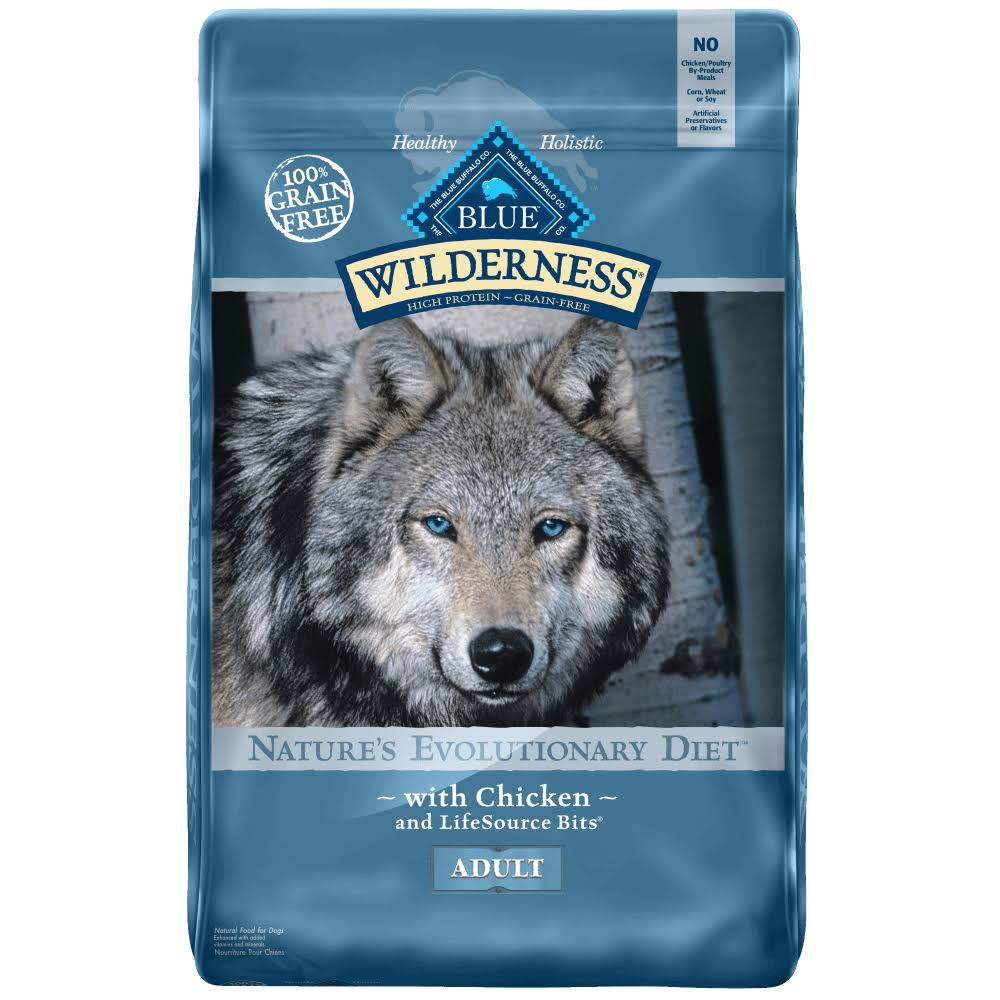 Blue Wilderness Adult Dog Dry Food - Chicken, 11lb