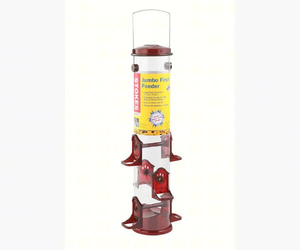 Stokes Select 38032 Jumbo Tube Finch Feeder - Yellow, Red