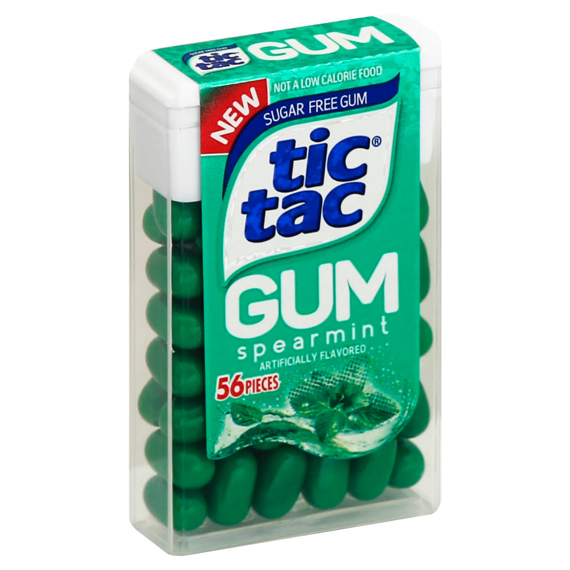 Tic Tac Gum, Sugar Free, Spearmint - 56 pieces
