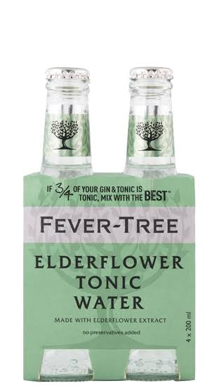 Fever Tree Elderflower Tonic Water Pack - 4pk, 200ml
