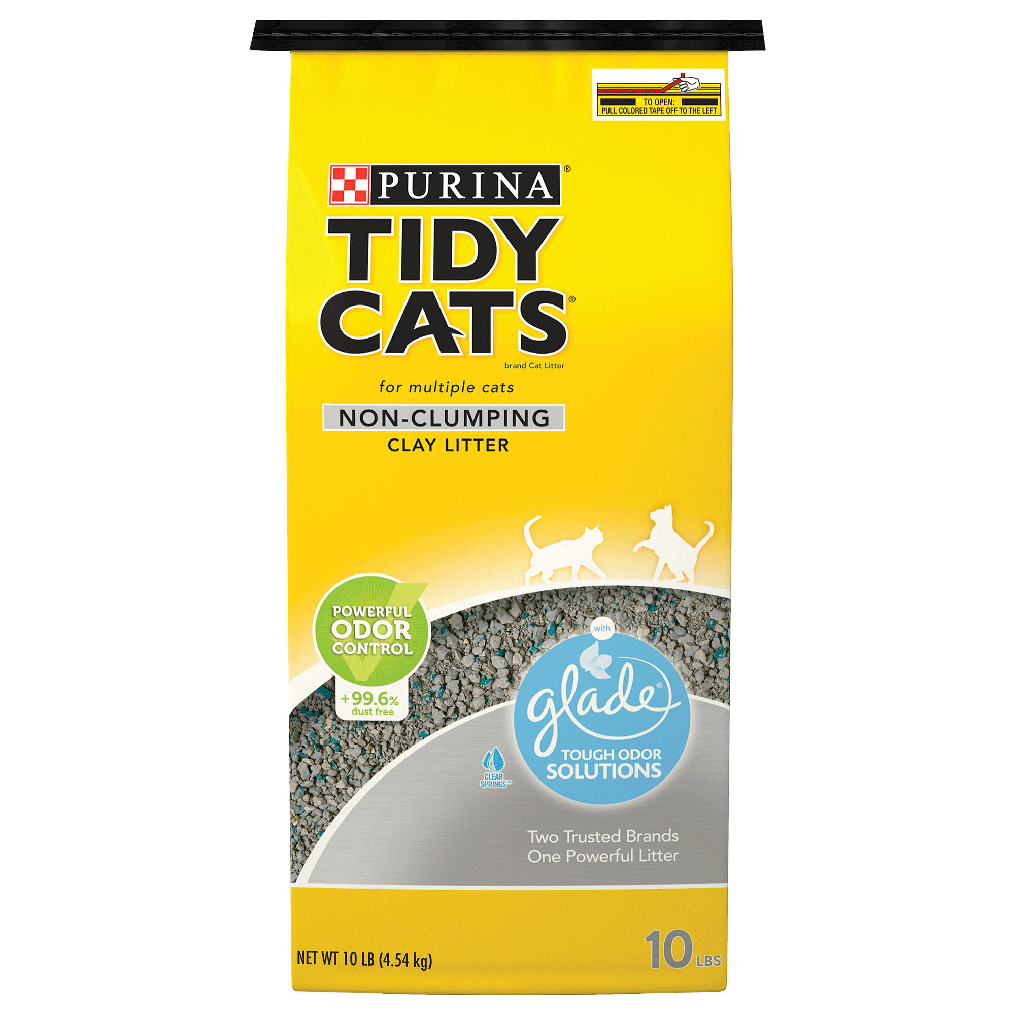 Tidy Cats Non-Clumping With Glade Tough Odor Solutions Cat Litter