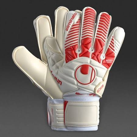 Uhlsport Eliminator Absolutgrip Gloves-White/Red