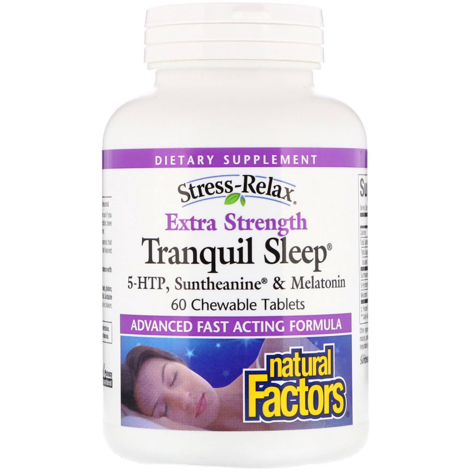 Natural Factors Tranquil Sleep Extra Strength Dietary Supplement - 60 Tablets