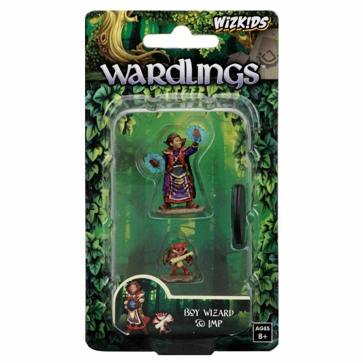 Wizkids Wardlings Painted Fantasy Miniatures - Boy Wizard and Imp