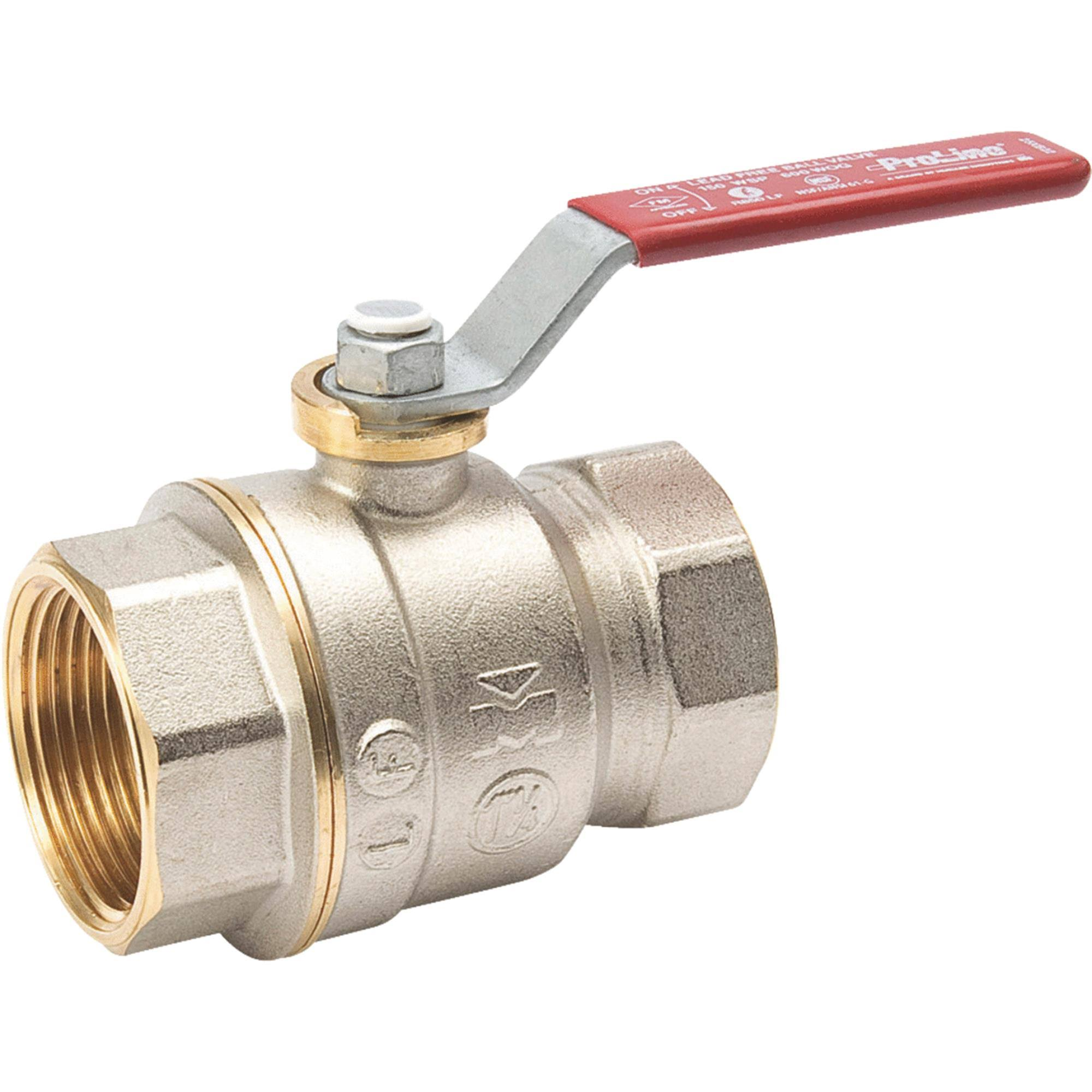 Mueller Lead Threaded Ball Valve - 1 1/4""