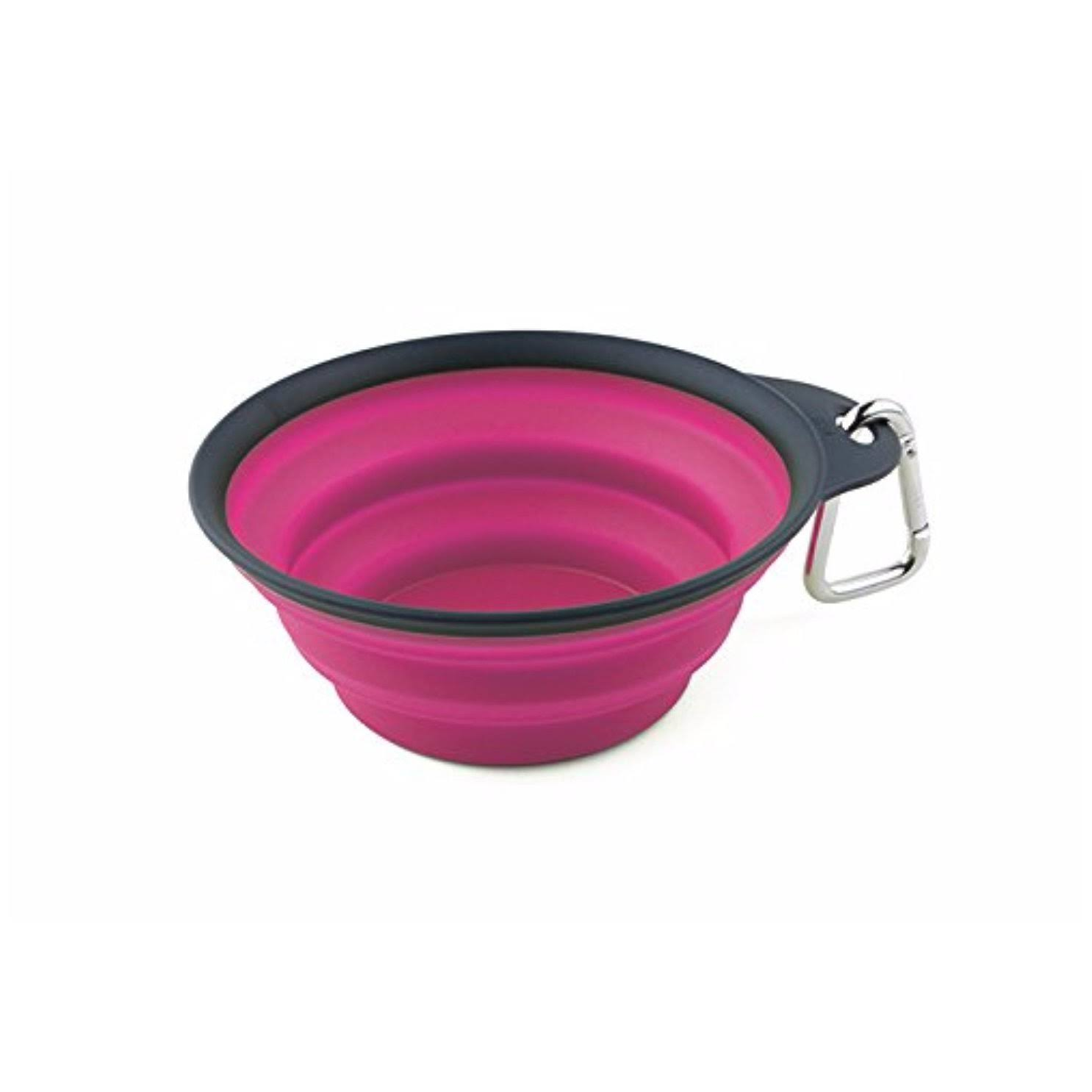 Dexas Popware Collapsible Travel Cup - Small, Gray, Pink