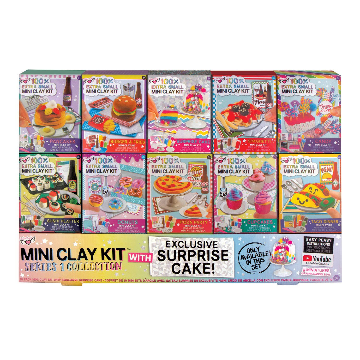 Fashion Angels Extra Small Mini Clay Kit - Set of 10