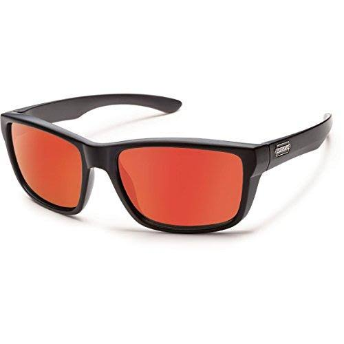 Suncloud S-MAPPRMMB Mayor Polarized Sunglass - Black Frame/Red Lens