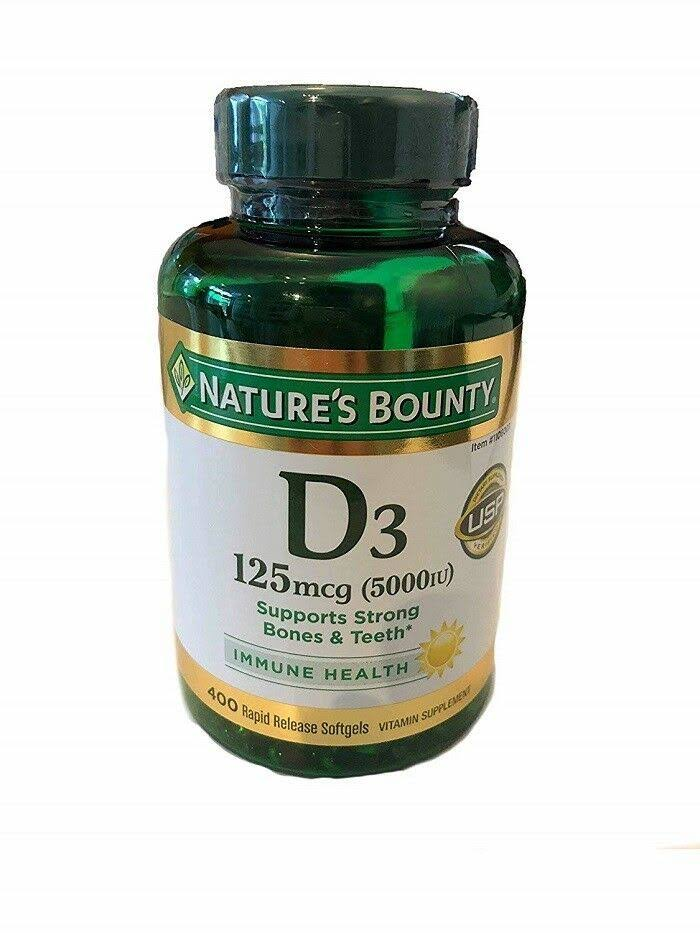 Nature's Bounty Vitamin D3 5000 IU - 400 Softgels