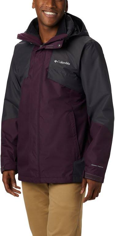 Columbia Bugaboo II Interchange Jacket - Men's Black Cherry/Shark, XXL