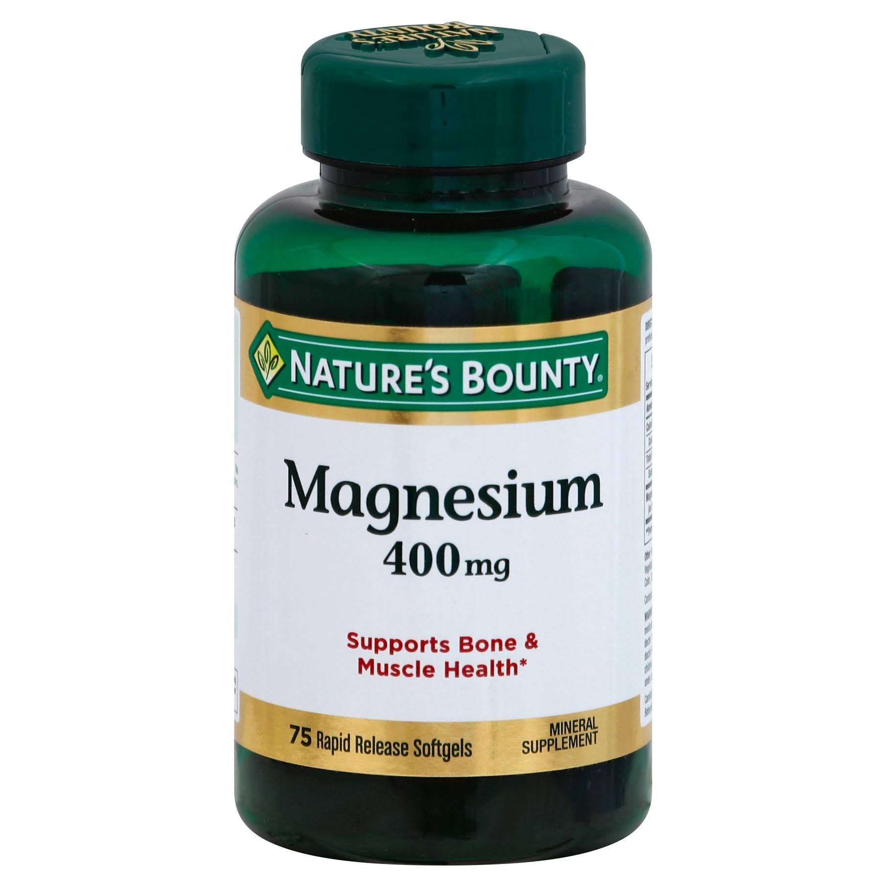 Nature's Bounty Magnesium - 75 Softgels
