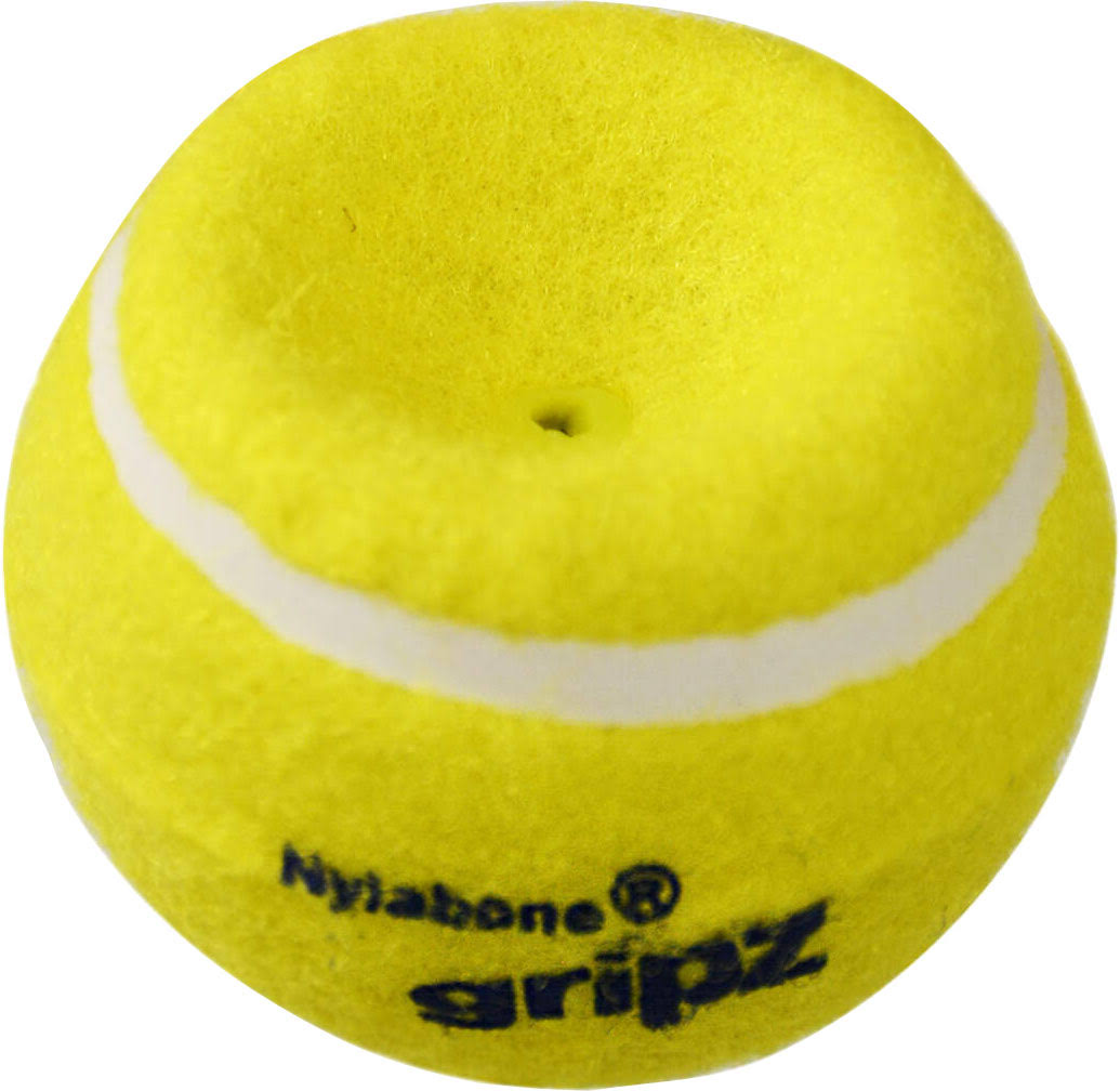 Nylabone NPLY001P Power Play Tennis Gripz Ball, Yellow, Medium