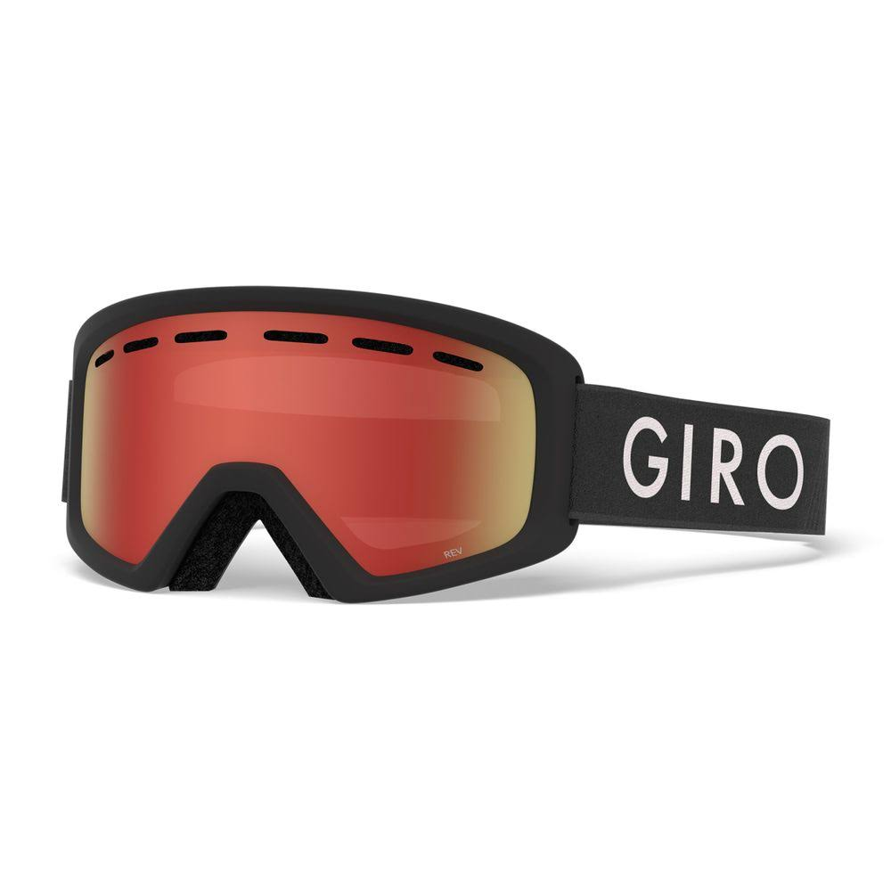 Giro Rev Youth Snow Goggle - Black Zoom/Amber Scarlet