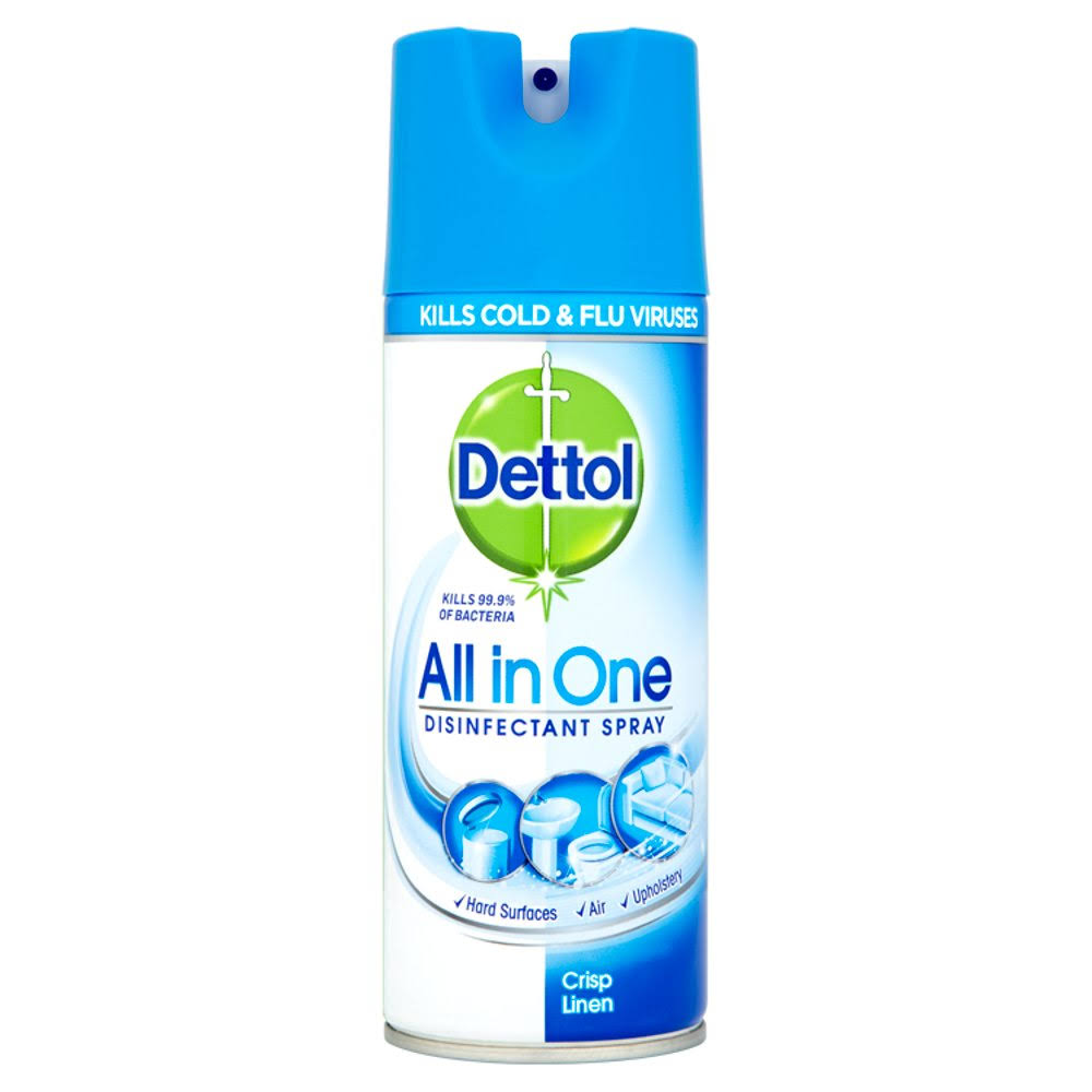 Dettol All in One Crisp Linen Disinfectant Spray - 400 ml