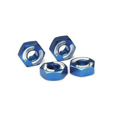 Traxxas Blue-Anodized Aluminum Hex Wheel Hubs - 4ct