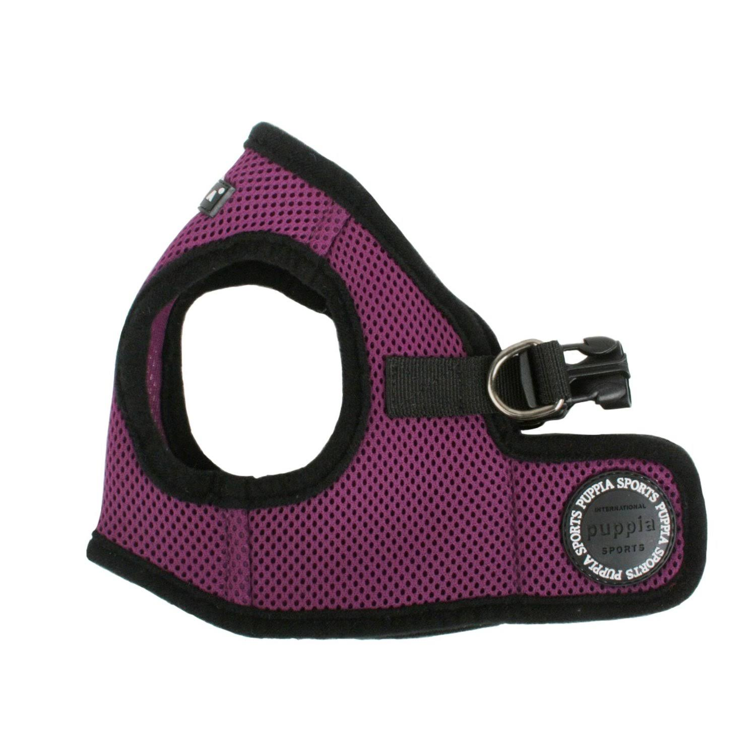 "Puppia Soft Vest Dog Harness - Purple, X-Large, 14"" x 20 to 20-1/5"""