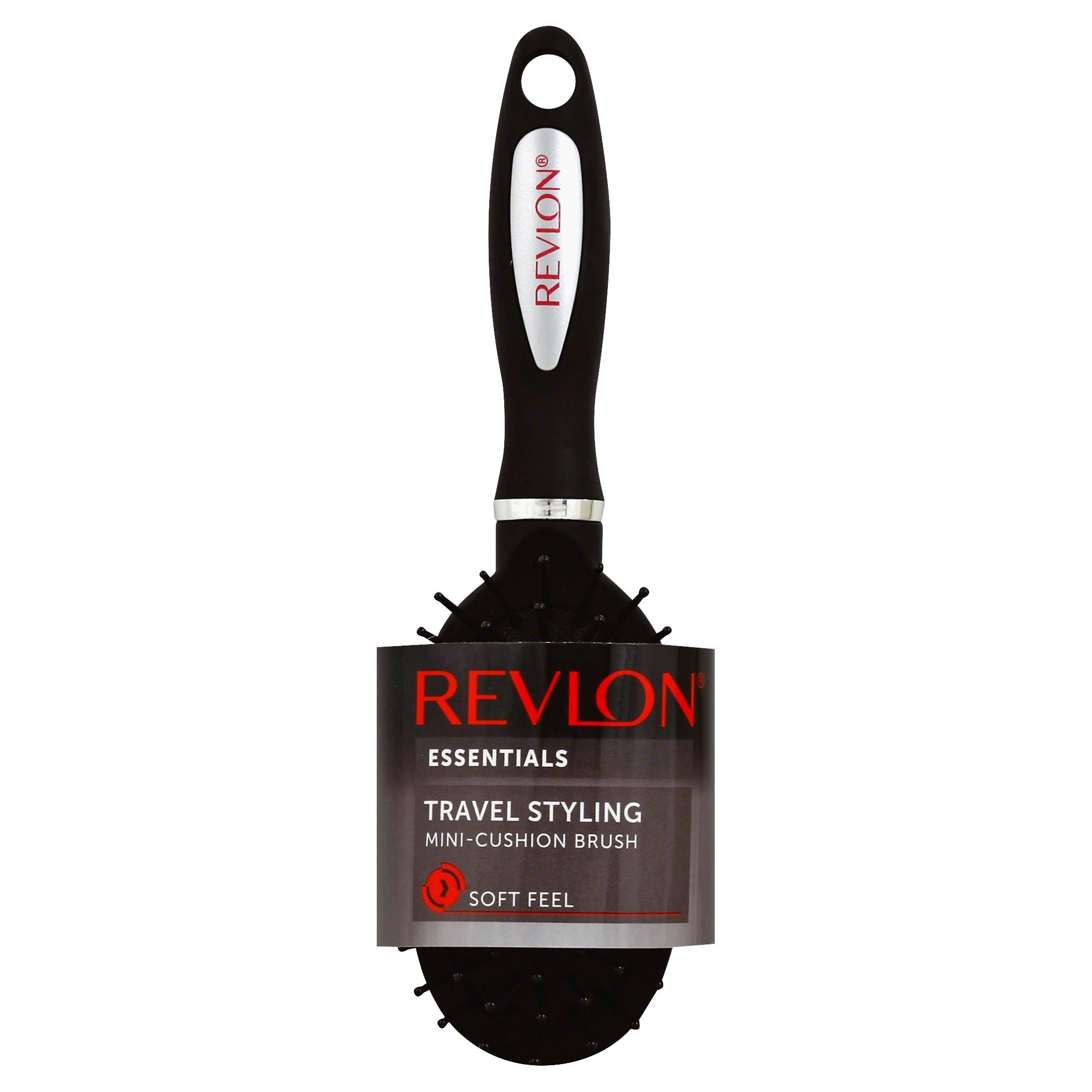 Revlon Essentials Brush, Mini-Cushion, Styling, Travel, Soft Feel