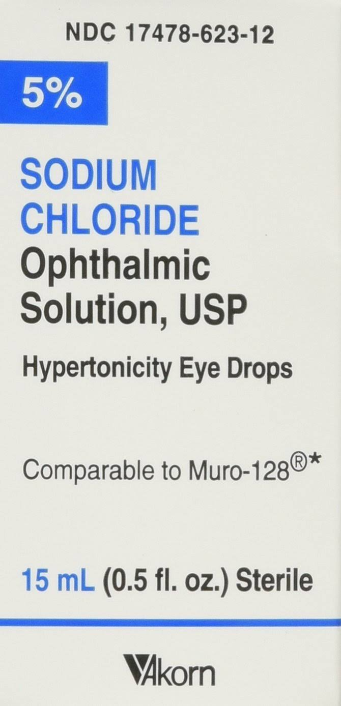 Akorn USP 5 Sodium Chloride Ophthalmic Solution - 0.5 Oz