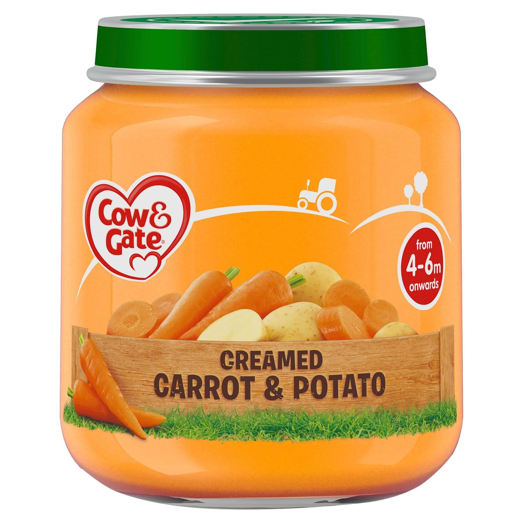 Cow and Gate Creamed Carrot and Potato Jar - 125g