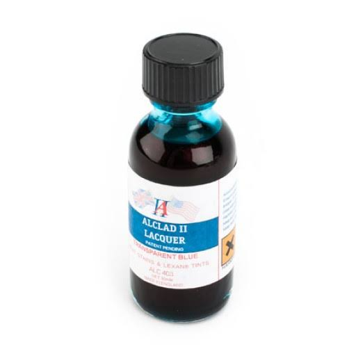 Alclad II Lacquers Transparent Blue 1oz
