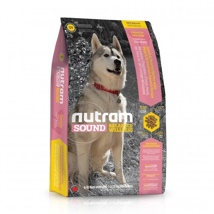Nutram Sound Balanced Wellness Adult Dog Food - Lamb Recipe, 13.6kg