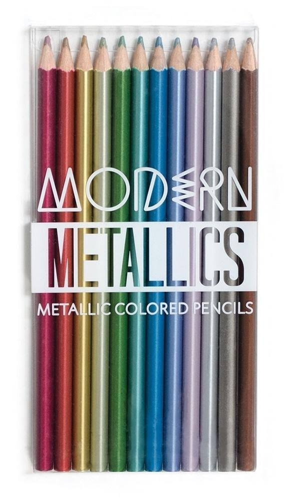Modern Metallic Colored Pencils - Set of 12