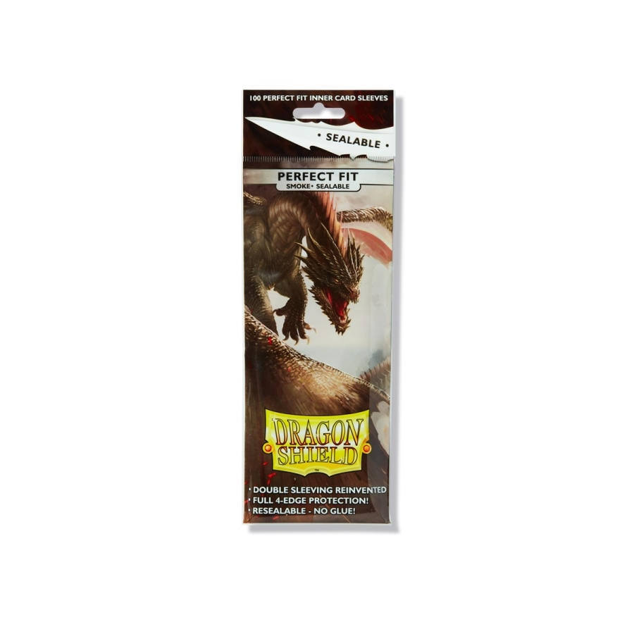 Dragon Shield Perfect Fit Card SLeeves - Sealable, Smoke, 100ct