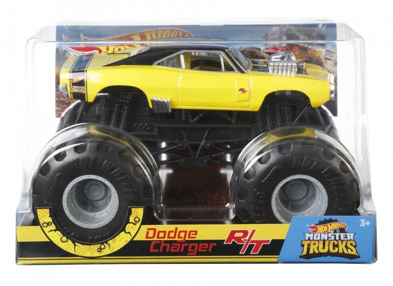 Hot Wheels Monster Trucks Dodge Charger RT Die-Cast Car Toy - 1:24 Scale