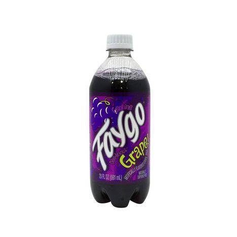 Faygo Flavored Soda - Grape, 20oz