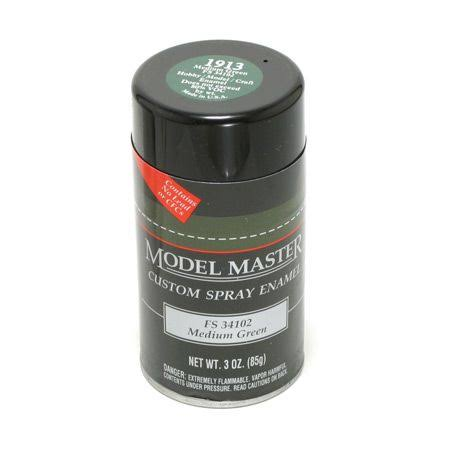Testors Model Master Custom Spray Enamel - Medium Green, 3oz