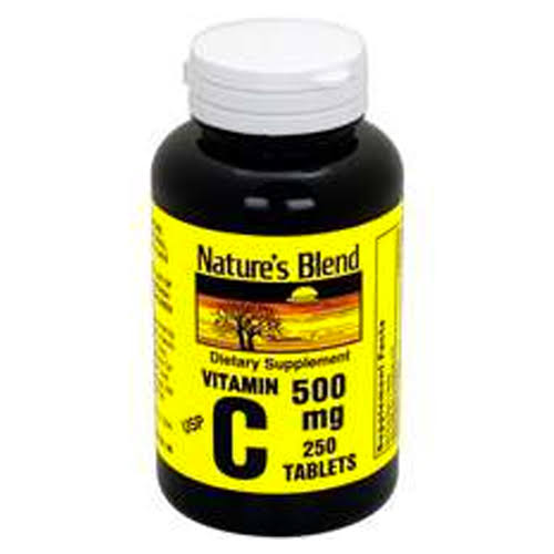 Nature's Blend Vitamin C - 500mg, 250 Tablets