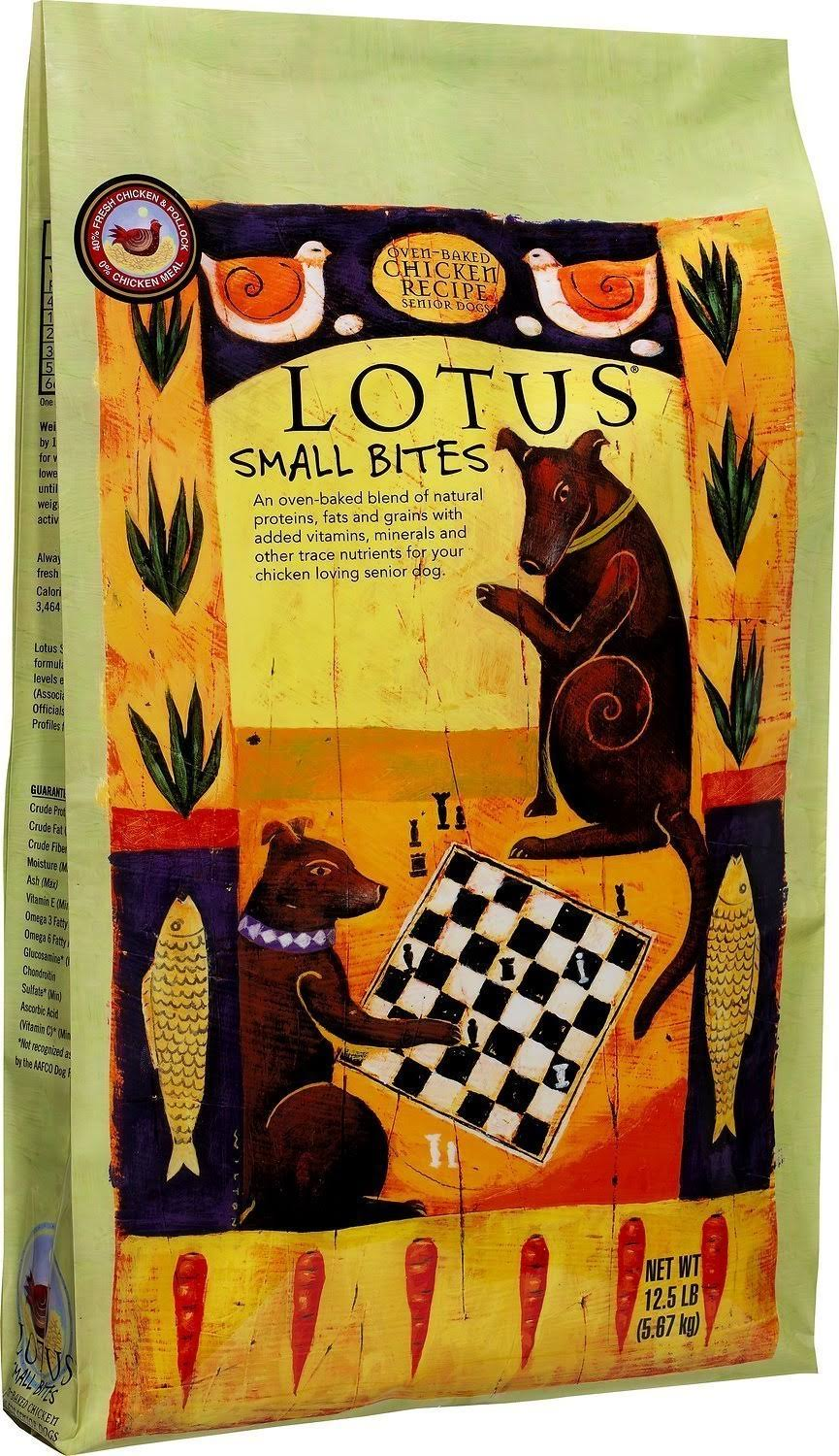 Lotus Small Bite Dry Senior Dog Food - Chicken, 5lbs