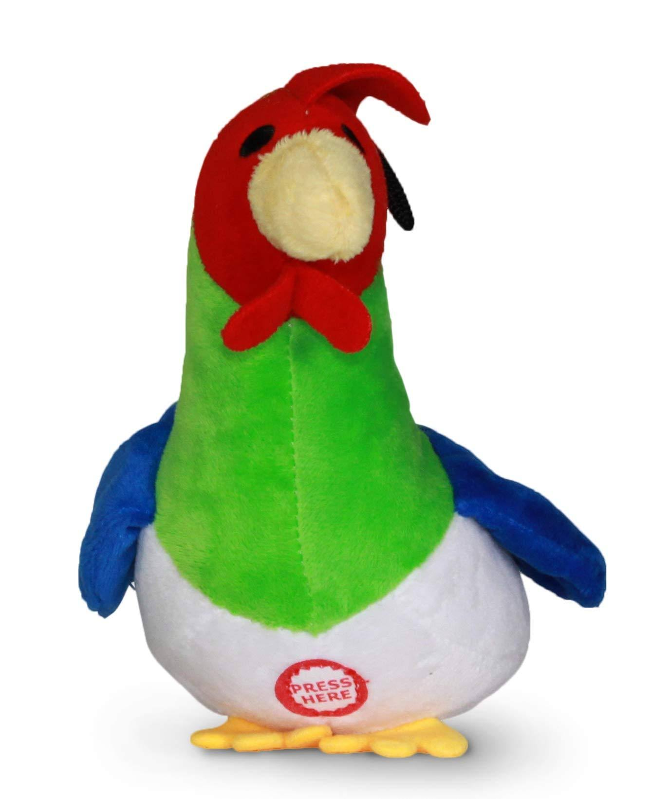 Pet Qwerks Rooster Sound Plush Dog Toy, 7-in