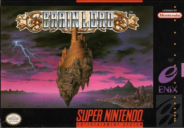 Super Famicom Brain Lord Nintendo Enix Video Game Cartridge