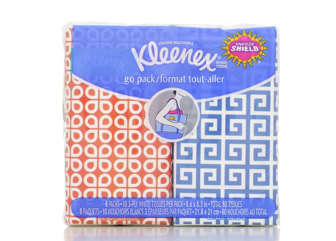 Kleenex Pocket Packs Facial Tissues - 32pk, 3 Ply