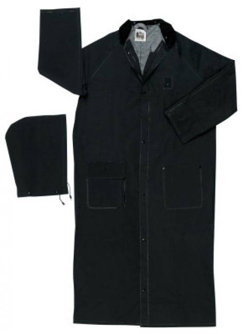 MCR Safety Mens Classic Curdoroy Collar Ridercoat - Black, X-Large