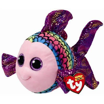 Ty 37150 Beanie Babies Boo Buddy Plush Toy - Boss Flippy The Fish, 24cm