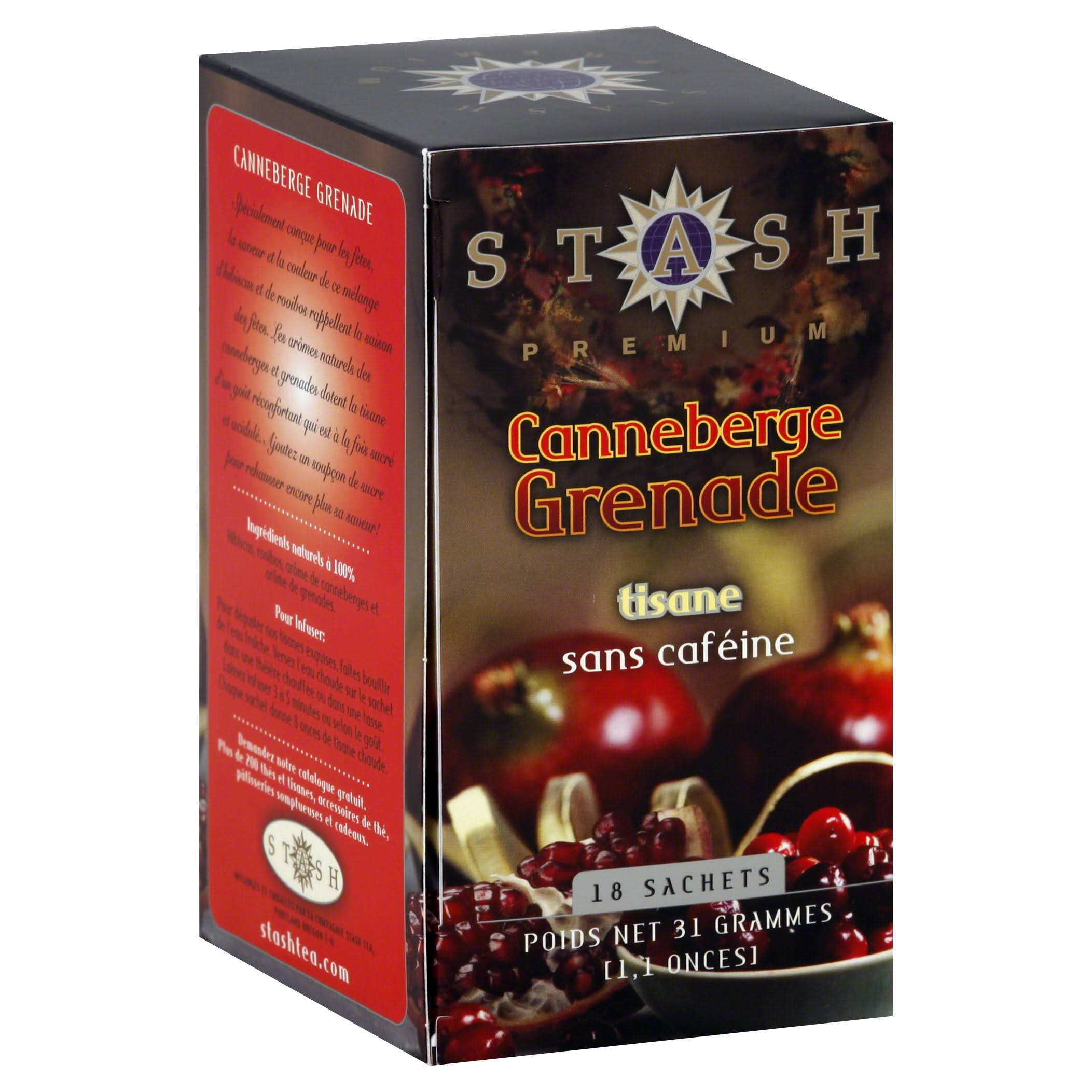 Stash Premium Cranberry Pomegranate Herbal Tea Bags - 18pcs