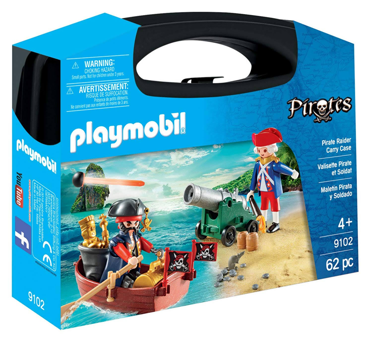 Playmobil Carry Case - Pirate Raider, 62pcs
