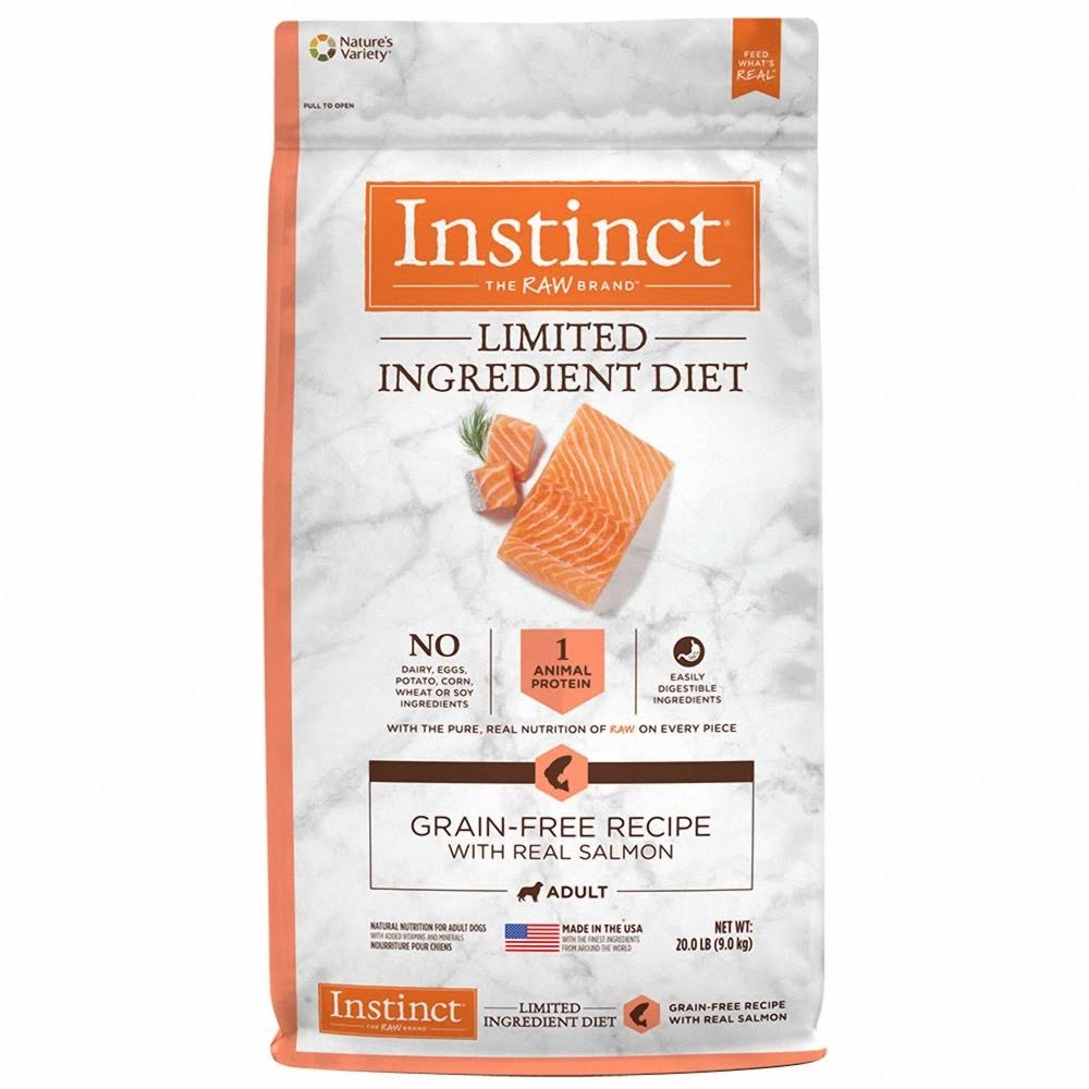 Nature's Variety Instinct Natural Dry Dog Food - Real Salmon, 4lbs