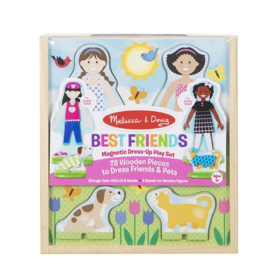 Melissa and Doug Best Friends Magnetic Dress Up Playset