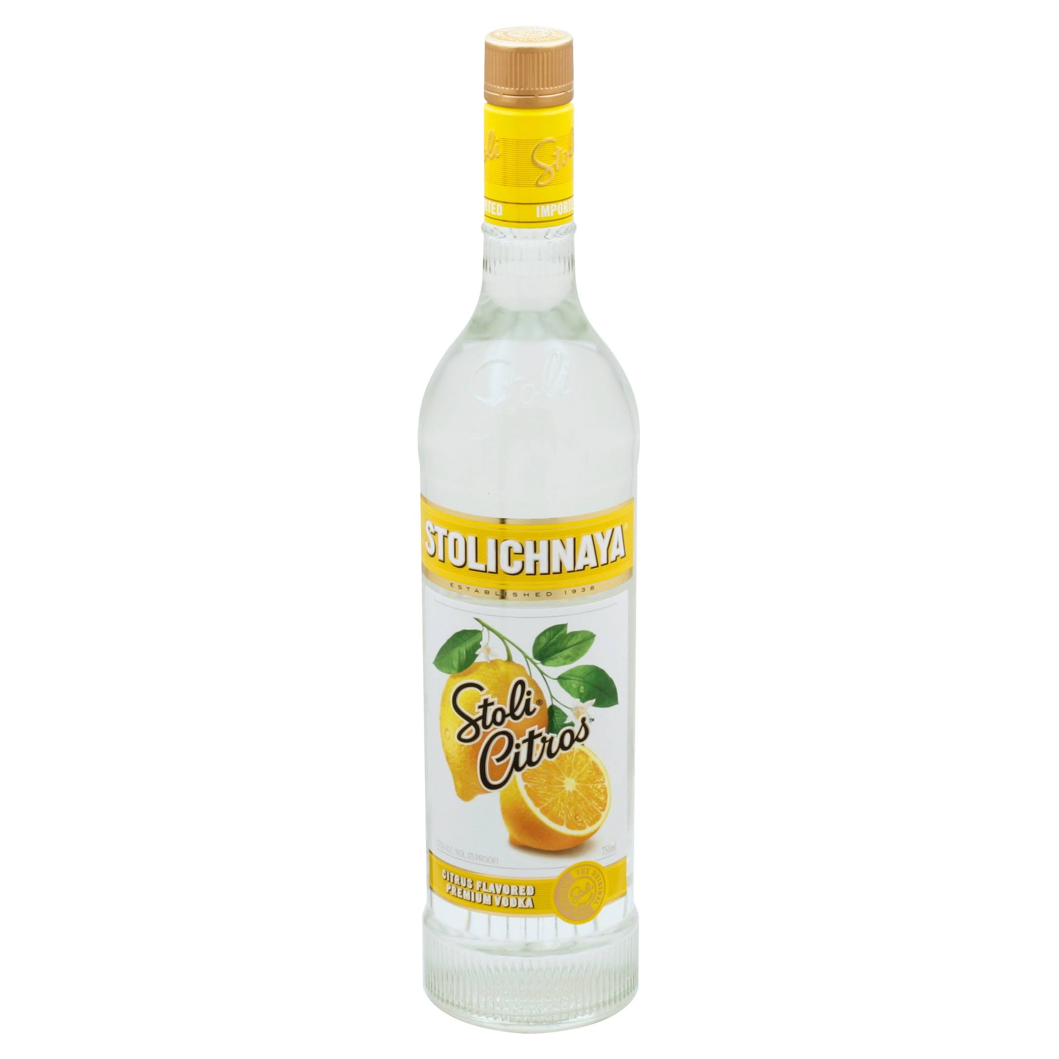 Stolichnaya Vodka, Premium, Citrus Flavored - 750 ml