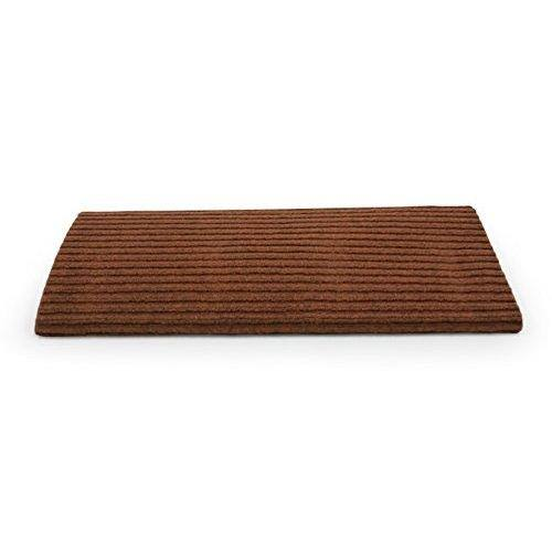 Camco 42955 Premium Wrap Around Double Ribbed RV Step Rug, 100 Percent Polyester (18 inch x 23 inch), Brown