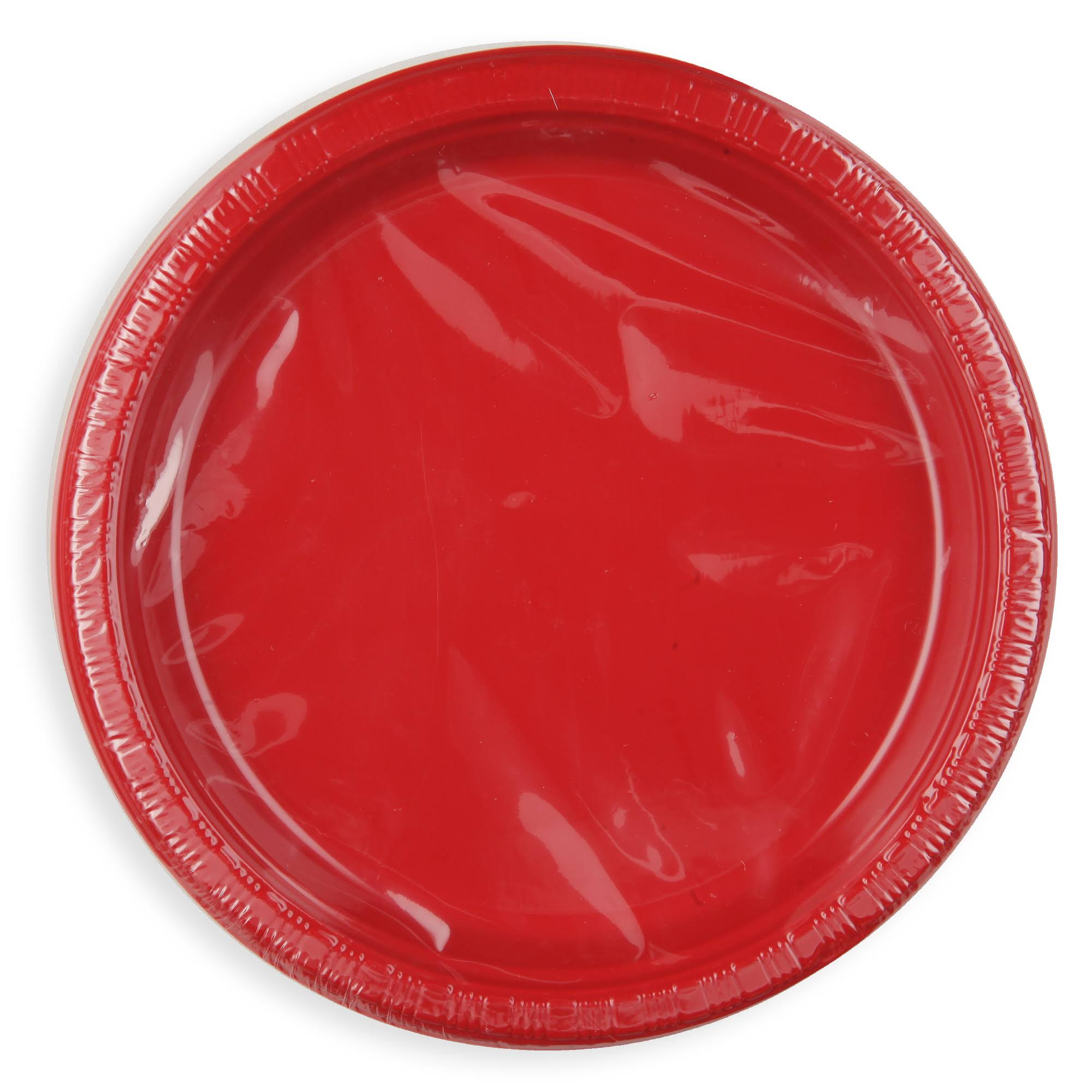 Creative Converting 28103111 Luncheon Plate - Classic Red, Plastic, 20ct