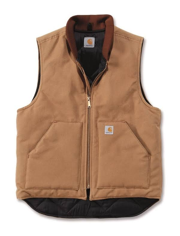 Carhartt Men's Arctic Lined Duck Vest - Carhartt Brown, XX-Large