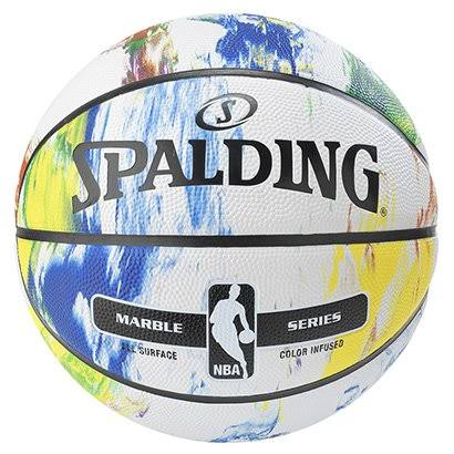 Spalding NBA Marble Series Multi-color Outdoor Basketball - 29.5""